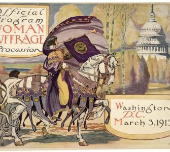 Official Program—Woman Suffrage Procession, cover illustration by Benjamin M. Dale, March 3, 1913