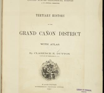 Tertiary History of the Grand Cañon District with Atlas, by Clarence E. Dutton, 1882