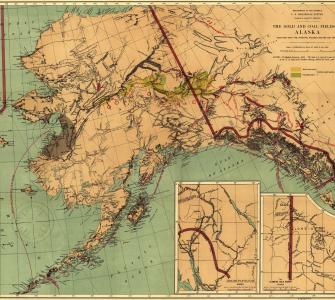 The Gold and Coal Fields of Alaska Together with the Principal Steamer Routes and Trails, map by U.S. Geological Survey, 1898