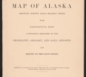 Map of Alaska: Showing Known Gold-bearing Rocks, by the U.S. Geological Survey, 1898