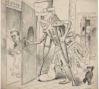 Hepburn Rate Bill, cartoon by Clifford K. Berryman, May 15, 1906