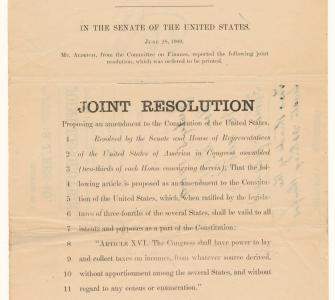 S.J. Res. 40, Joint Resolution proposing an amendment to the Constitution of the United States, June 28, 1909