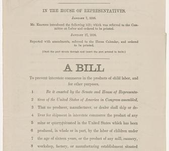 H.R. 8234, A Bill to prevent interstate commerce in the products of child labor (Keating-Owen Act), January 17, 1916