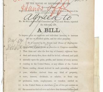 H.R. 5442, A Bill to impose a tax on corporate and individual incomes . . . , January 24, 1894