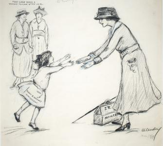 Come to Mother—When Miss Rankin Came to Congress, drawing by Nina Allender, March 31, 1917