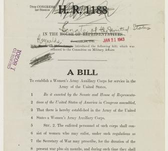 S. 495, A Bill to establish a Women's Army Auxiliary Corps