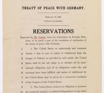 Treaty of Peace with Germany, Reservations - Image 1
