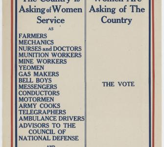 As a War Measure, poster by National Woman Suffrage Publishing Company, Inc., ca. 1918