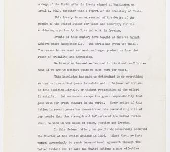 Letter from President Harry S. Truman to the Senate - Image 1