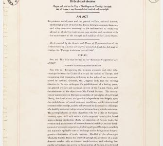 Economic Cooperation Act of 1948 (Marshall Plan) - Image 1