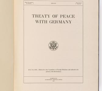 Treaty of Peace with Germany (Treaty of Versailles), 1919