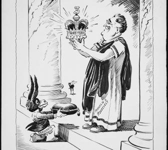 Thrice Presented Him a Kingly Crown, drawing by Fred O. Seibel, July 19, 1940