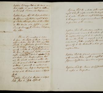 William F. Paterson's draft resolutions from the Constitutional Convention, June 13-15, 1787