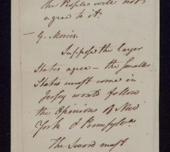 William F. Paterson's notes on debates in the Federal Convention