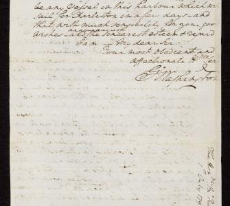 Letter from President George Washington to John Rutledge, July 1, 1795
