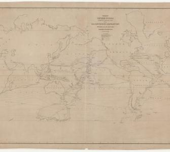 Chart of the World Shewing the Tracks of the U.S. Exploring Expedition, 1838–1842