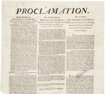 Proclamation to the residents of the Province of Louisiana, December 20, 1803