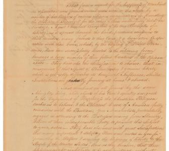 Petition from the Pennsylvania Society for the Abolition of Slavery
