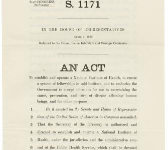 S.1171, An Act to establish and operate a National Institute of Health, April 3, 1930