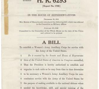 HR 6293, A bill to establish a Women's Army Auxiliary Corps