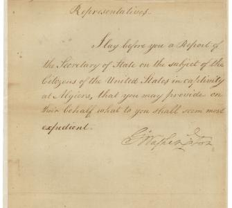 Message from President George Washington to Congress