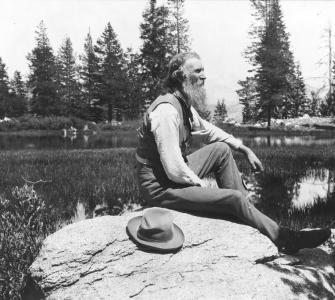 Conservationist John Muir in the Sierra Nevada, Mountains, California, ca. 1902