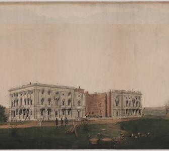 The U.S. Capitol after Burning by the British, by George Munger, ca. 1814