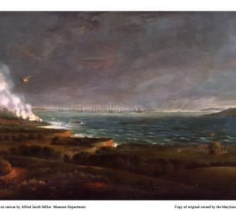 Bombardment of Fort McHenry, oil on canvas by Alfred Jacob Miller, ca. 1828-1830