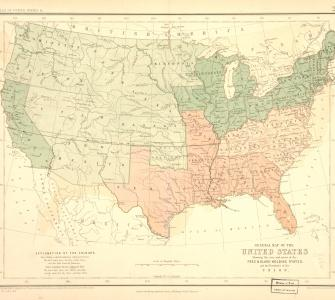 General Map of the United States, by Henry D. Rogers, 1857