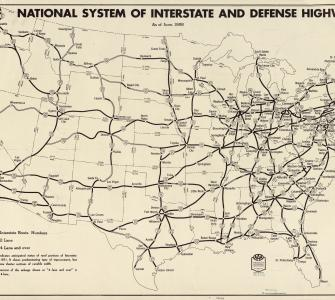 national system of interstate and defense highways as of june 1958 map by the