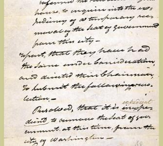 Report of the Committee appointed to inquire into the expediency of removing the Seat of Government, October 3, 1814