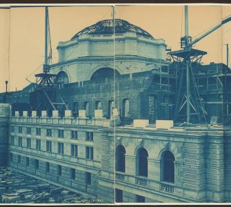 Construction of the Library of Congress, Washington, D.C., cyanotype by Levin C. Handy, April 19, 1893