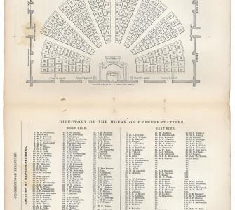 House Seating Chart, Congressional Directory, 39th Congress, 2nd Session, 1867