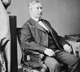 Senator Jacob Howard of Michigan, photograph by Mathew B. Brady, ca. 1870