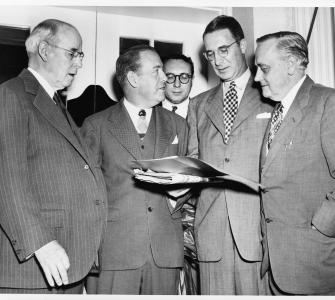 Members of the Senate crime investigating committee, photograph by Acme Photo, June 1, 1950