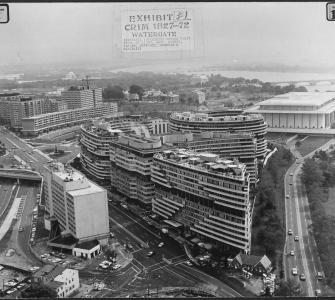 Exhibit #1: Watergate building, photograph, ca. 1972