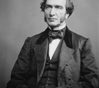Senator Justin S. Morrill of Vermont, photograph by the Brady-Handy Studio, ca. 1860