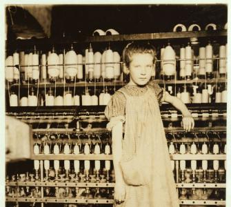 Twelve-year-old Girl in Vermont Cotton Mill, photograph by Lewis Hine, 1910