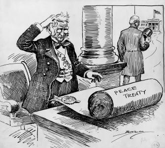 At Last! drawing by Clifford Berryman, July 10, 1919