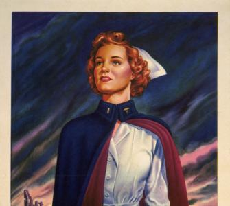 "Army Recruiting poster, ""Nurses Are Needed Now!... "" by Stu L. Savage, 1944"