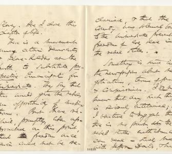 Letter from Senator Charles Sumner to President Abraham Lincoln, November 20, 1864