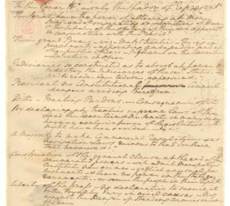 George Washington's notes on George Mason's Objections to the Constitution of Government formed by the Convention, October 7, 1787