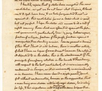 Letter from Thomas Jefferson to James Monroe, August 9, 1788
