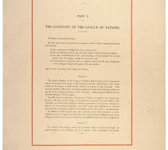 Certified copy of the Treaty of Versailles