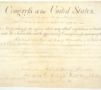 An Act Providing for the Expences Which May Attend Negotiations or Treaties with the Indian Tribes
