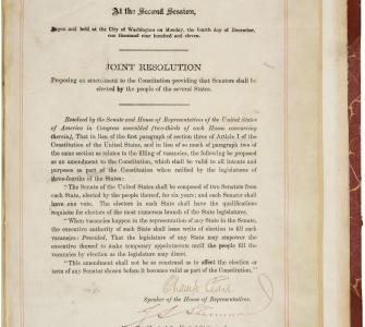 Joint Resolution Proposing the Seventeenth Amendment to the Constitution
