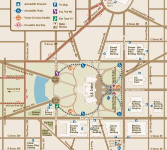 Plan A Visit US Capitol Visitor Center - Map is us