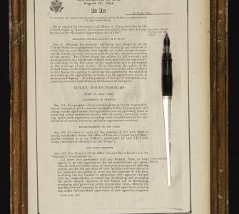 Economic Opportunity Act of 1964 and Pen