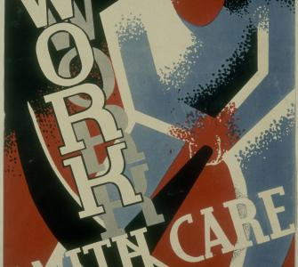 Work with Care, by Nathan Sherman, 1936