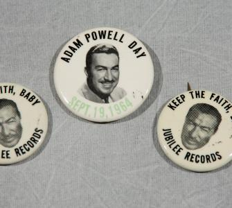 Adam Clayton Powell, Jr., Campaign Buttons, 1964